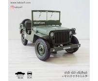 ماکت ماشین جیپ ویلیز مدل جنگی